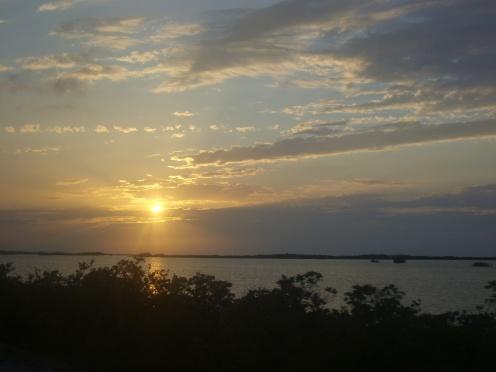 Tramonto alle Middle Keys, prima di affiancare il Seven Miles Bridge